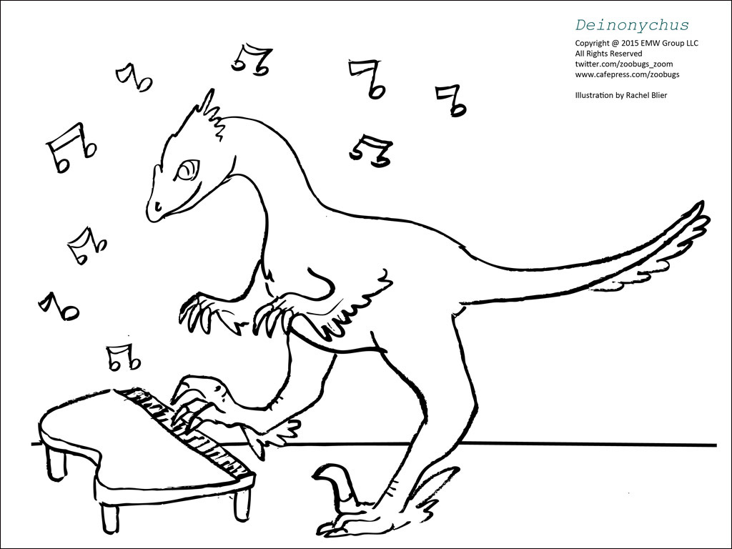 Dinosaur Coloring Sheets 3