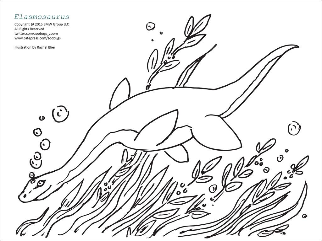 elasmosaurus coloring page - Master Coloring Pages