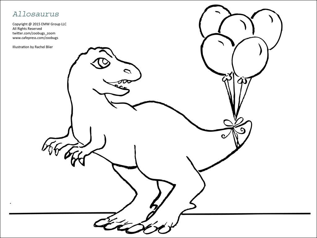 Ausmalbilder Dinosaurier Allosaurus – Ausmalbilder Webpage