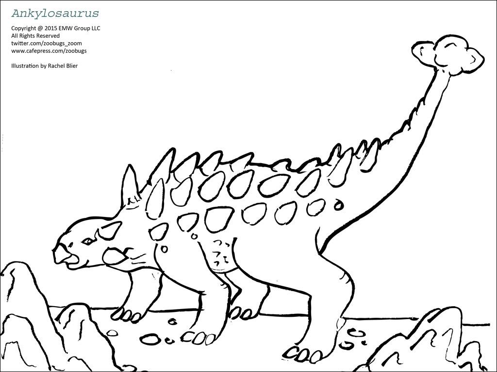 Dinosaur Coloring Sheets 1